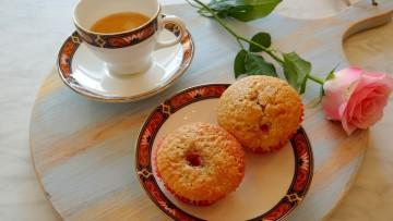 Aardbeien kwarkmuffins