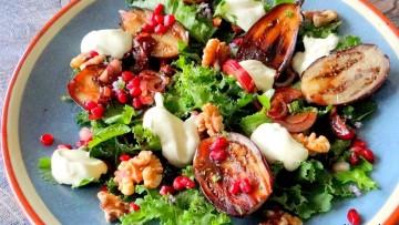Mini aubergine en boerenkoolsalade