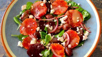 Bietensalade met bloedsinaasappels