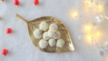 Cranberry witte chocoladeballen