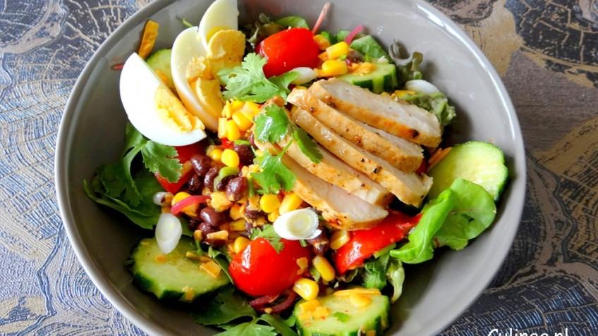 salade gegrilde kip