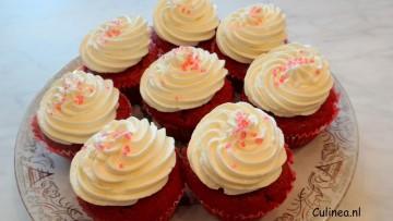 Red Velvet rode bieten cupcakes
