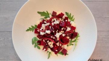 Rode bietensalade met feta en rode ui