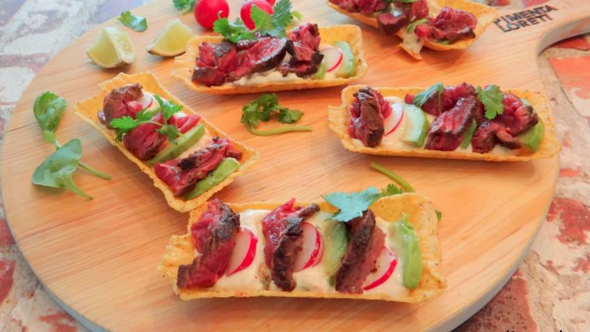 Mini Taco Tubs gevuld met Burrito Longhaas