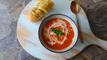 Tomatensoep van geroosterde tomaten