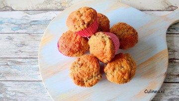 Volkoren muffins met rozijnen