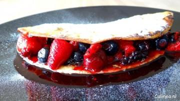 Wentelteefjewrap met fruit