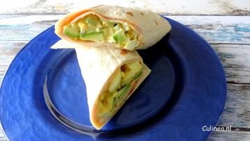 Wraps met eisalade en avocado