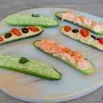 Gevulde mini komkommers