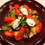 Groenten met labneh en groene chili-olie