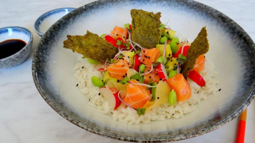 Sushi rijstsalade