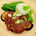 MaPo met aubergine en een pittige saus