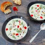 Yoghurtsoep met komkommer