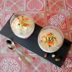 Mandarijnparfait met pistachenoten