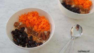 Overnight oats met wortel