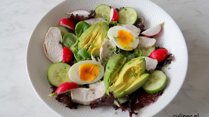 Nieuw Salade met kip, avocado en ei - Culinea.nl; JA-74