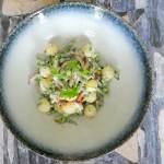 Spaanse salade met aardappel en boontjes