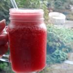 Watermeloen cranberrysmoothie
