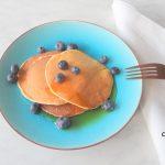 Yoghurt pannenkoekjes met blauwe bessen