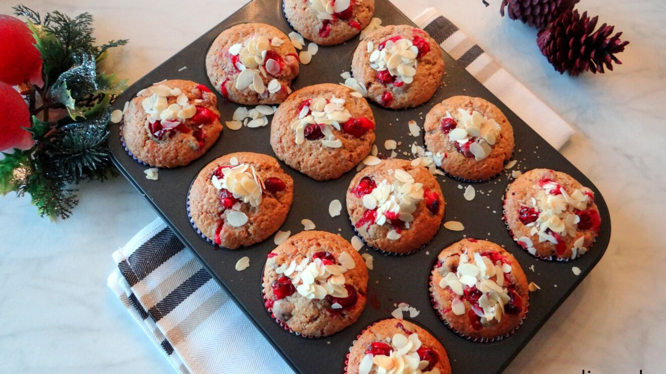 Cranberry speculaasmuffins
