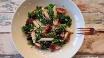 Tarwe met boerenkool, schorsneren en shiitake