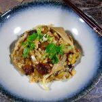 Teriyaki risotto met paddenstoelen en kastanjes