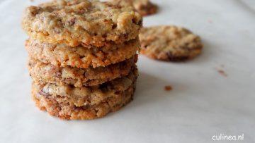 Chocolate chip cookies met pecannoten