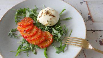 Mozzarella met bloedsinaasappel