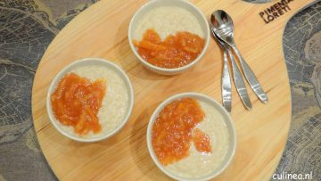 Rijstpudding met sinaasappelmarmelade