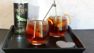Santuario koffie cocktail met ginger ale en Grand Marnier