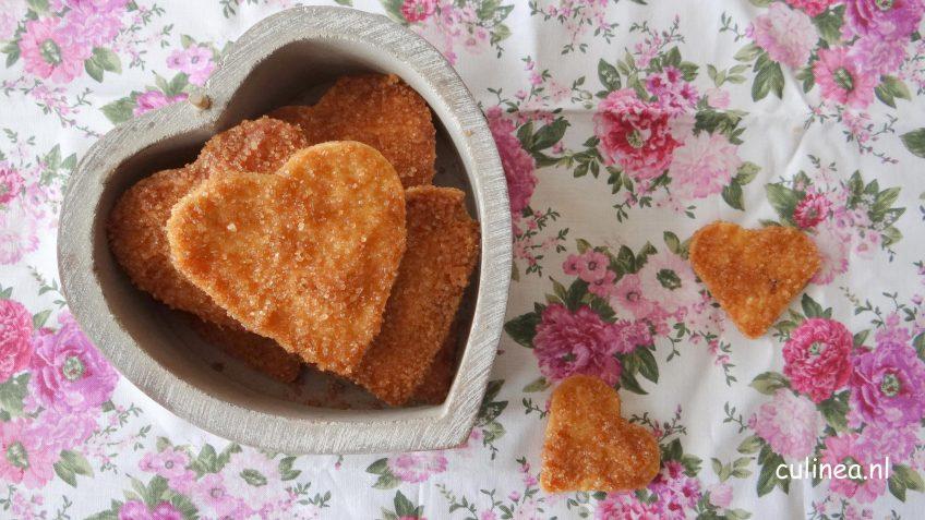 Krokante hartvormige koekjes