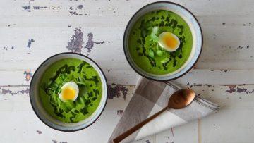 Groene asperge en waterkerssoep