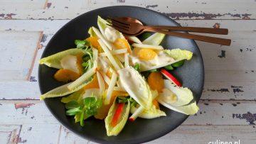 Witlofsalade met appel en sinaasappel