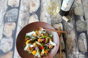 Genieten van asperges en wijn