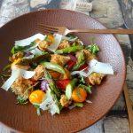 Panzanella met geroosterde groenten