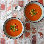 Spaanse koude soep Gazpacho