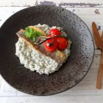Risotto met zeebaarsfilet