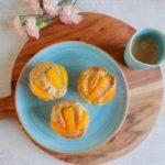 Amandelcakejes met abrikozen