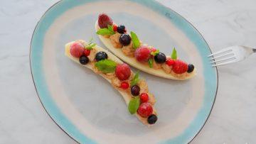 Banana split voor ontbijt