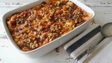 Rode bietenlasagne met gerookte mozzarella