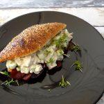 Broodje met kip roquefortsalade