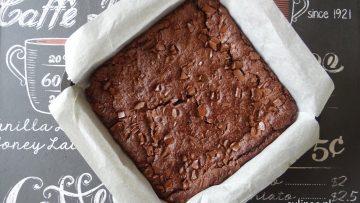 Brownies gemaakt van zwarte bonen