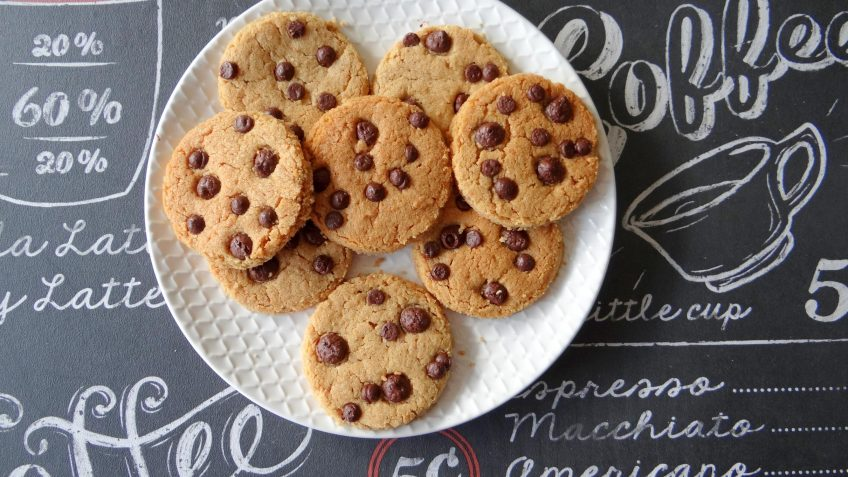 Pindakaaskoeken met chocolade