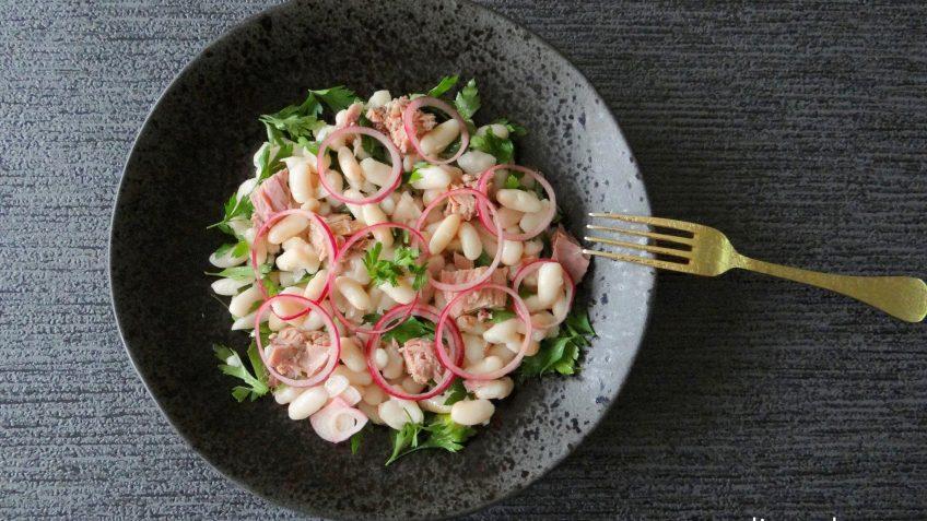 Witte bonensalade met tonijn