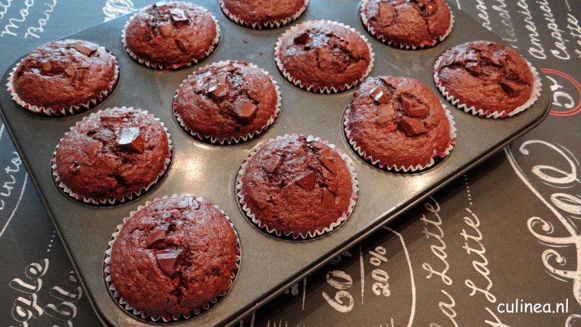 Chocolade banaan muffins