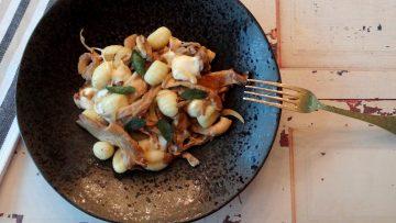 Gnocchi met oesterzwammen en mozzarella