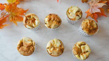 Pompoenmuffins met een roomkaas topping