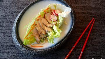 Slawraps met kip, wasabi en noedels