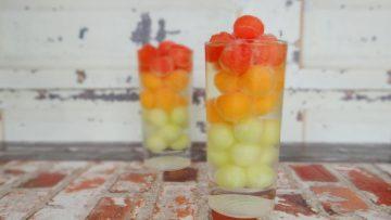 Spritzer met meloenbolletjes
