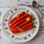 Geglaceerde rode wortelen